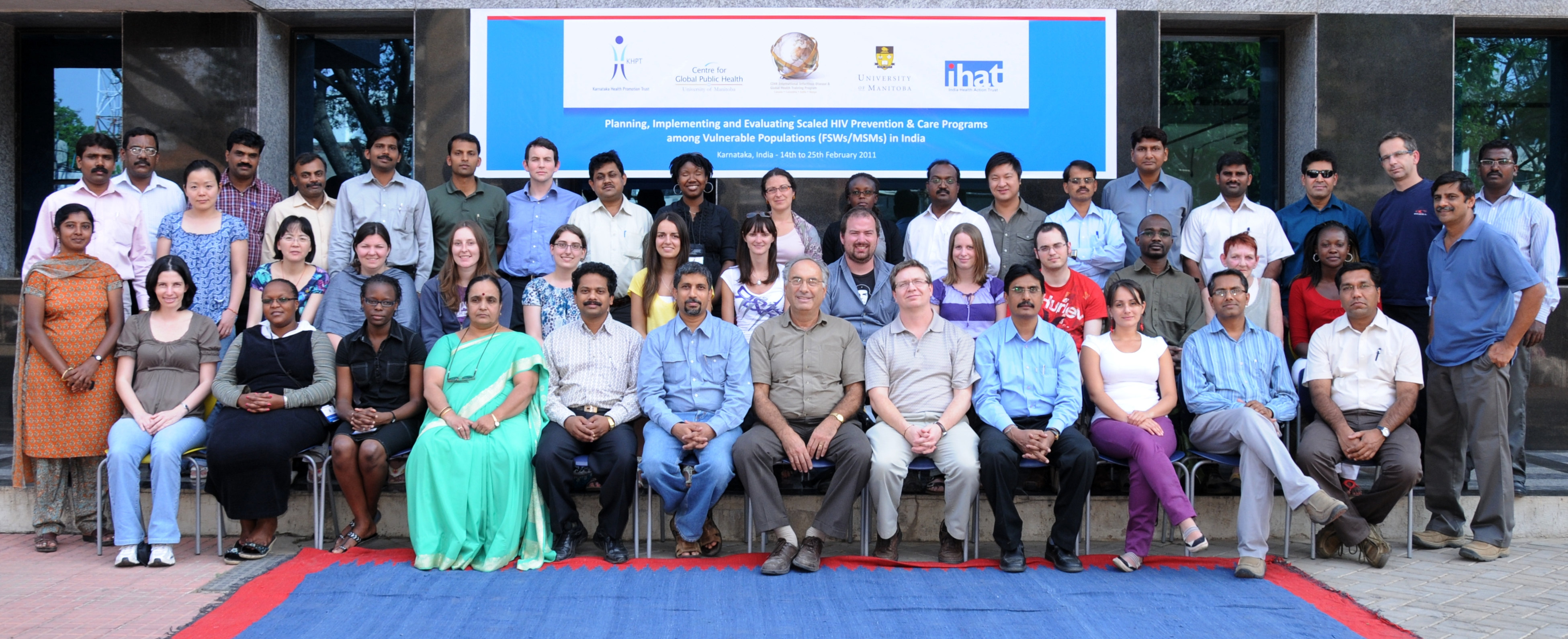 A group picture of all those attending the major course offering in Bangalore, India in February 2011.